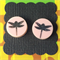 Dragonfly Laser Cut Earrings - acrylic, perspex, retro, pink
