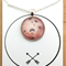 """Black Bird Pink 008"" | Choose silver or bronze | The $10 Pendant"