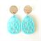 Geometric Turquoise  Dangles.