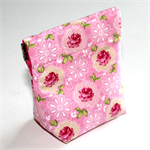 Handy Little Purse with flex frame opening in Pretty Floral Fabric