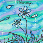 Many Blessings .. Love Spiritual Art Print