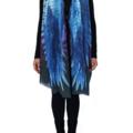 Raven Scarf - unisex Symbolic Gift, Boho Gothic Wings, festival wear
