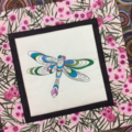 Australiana cushion cover - Dragonfly