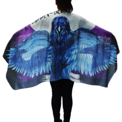 Raven Scarf - unisex Meaningful Gift, Boho Chic Gothic Wings, festival wear