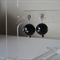 Diamonte-Studded Black Pearl Earrings