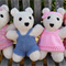 Snuggly Teddy Bear softies, hand knitted. New baby, baby shower gift.