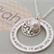 Forever Family Necklace {can have text on both sides}