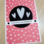 Engagement Card - felt hearts