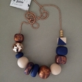 Glam Necklace - Navy/Copper