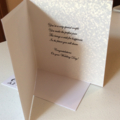 Wedding cards. Traditional. Gold/white/ivory or white/silver.