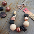 Glam Necklace - Black/Copper