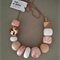 Glam Necklace - White/Copper
