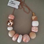 Glam Necklace - White/Copper
