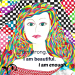 Motivational Mini Poster * I am Enough * Spiritual Love Self Giving