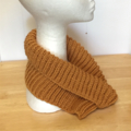 Neck warmer /Cowl, FREE POST , Adult, Teen, Child Hand-Knit, Wool,  Gold Mustard