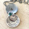 Loss of Baby Keepsake, Remembrance Necklace, In  Memory Jewellery