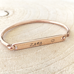 Children's Bangle, ID Bracelet, ID Bangle, Personalised Bangle