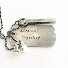 Men's Necklace, Boxing Gloves, Fitness Inspiration, Gift For Him, Dog Tags
