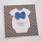welcome baby - onesie with crocheted bow tie
