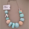 Glam Necklace - Aqua/Silver