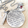 Gift For Daughter, Hand Stamped Quote Necklace, Personalised Jewellery,