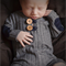 Newborn Photography Prop/Baby Boy Romper/ Long Sleeved/ Knee Length/ Grey