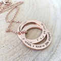 Personalised Jewellery, Connecting Rings, Anniversary Gift, Mothers Day Gift