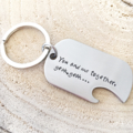 Bottle Top Opener, Dog Tag Gift For Men, Personalised Tag, Wedding Groomsmen