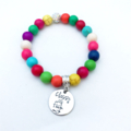 Friend Funny Rude Saying or Quote Personalised Name Hand Stamped Bead Bracelet