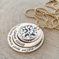 Personalised Jewellery, Hand Stamped Gold Necklace, Personalised Necklace