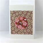 Handcrafted gift card - pink
