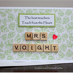 Thank You Card, For Teacher, Coach, Carer, Appreciation, Customised