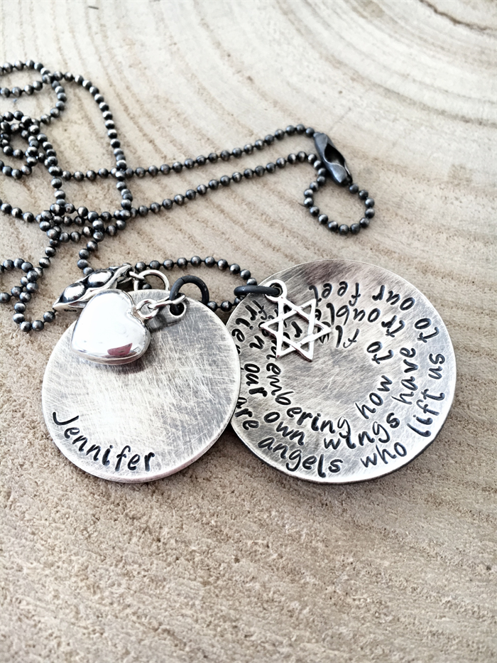 Friendship Quote Necklace Best Friend Jewellery Gift For 40th 50th Hand Stamp