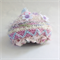 Unique embellished knit hat for newborn. One of a kind.