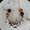Colour Splat Necklace - Black/Silver/Rosegold