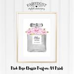 Pink Rose Classic Parfum A4 Print