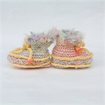 Unique embellished  3-6 month size baby booties.