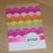 Female Happy Birthday card - colour bursts