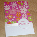Female Happy Birthday card - flowers