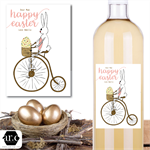 Personalised Easter Wine/Spirit Bottle Label
