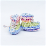 0-3 month rainbow knit booties. One of a kind.