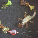 Lampwork Gecko Beaded Sun Catcher