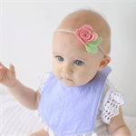 'Shrimp' Single Rose Bloom Headband - Baby/Girl Accessory