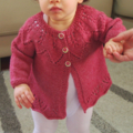 Little Cardigan - Hand knitted - Size 1 - Bamboo/Merino
