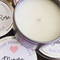 40 x Personalised Favours - Soy Candle Tins - Gold or Silver