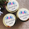 50 x Personalised Favours - Soy Candle Tins - Gold or Silver