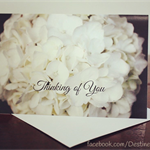 Sympathy Card, Thinking Of You, Condolences, Comfort, Support, Flowers, Photo