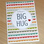 Sending you a Big Hug - get well - bereavement - condolence card