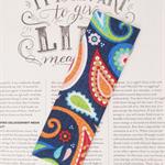 Fabric Bookmark, Multi Coloured Droplets
