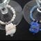Maneki Neko glass tags for the Bride and Groom